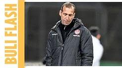 Kaiserslautern-Trainer Strasser in Klinik gebracht - Spielabbruch in 2. Liga