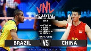 Brazil vs China | Highlights Men's VNL 2019