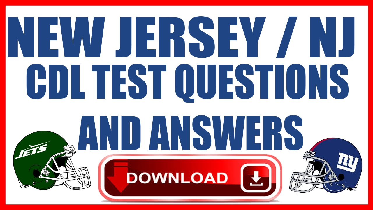 New Jersey Nj Cdl Test Questions And Answers Youtube