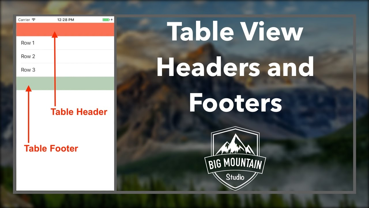 How to Add TableView Headers and Footers (iOS, Xcode 8, Swift 3)