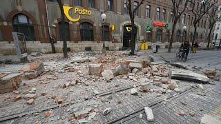 Nach mehreren mittelschweren erdbeben in der peripherie von zagreb herrschen kroatischen haupstadt teils chaotische zustände. die menschen sind trotz ...