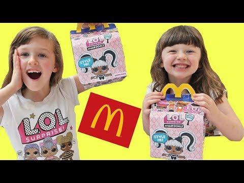 Isla & Olivia Make DIY LOL dolls Surprise Mcdonalds Happy Meal Toy