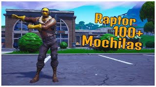 SHOWING SKIN RAPTOR & 100 + BACKPACKS | FORTNITE