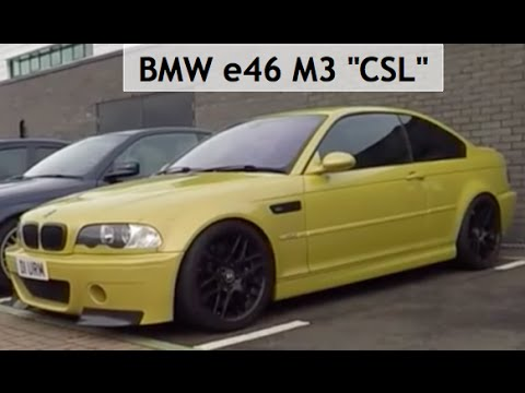 Bmw E46 M3 Quot Csl Quot Replica Youtube