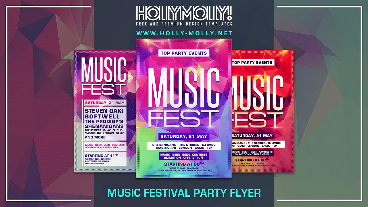 Free Flyer Template For Party Events Making Of With Download Link