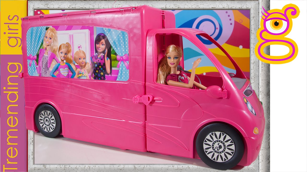 barbie y ken compran la autocaravana de vacaciones barbie juguetes en espa ol toys youtube. Black Bedroom Furniture Sets. Home Design Ideas