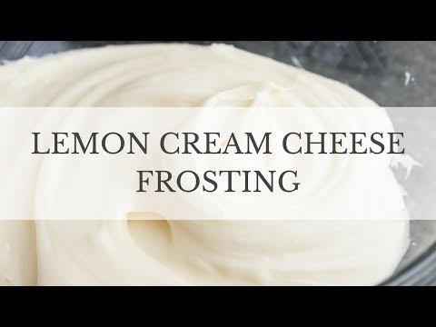 Lemon Cream Cheese Frosting Recipe