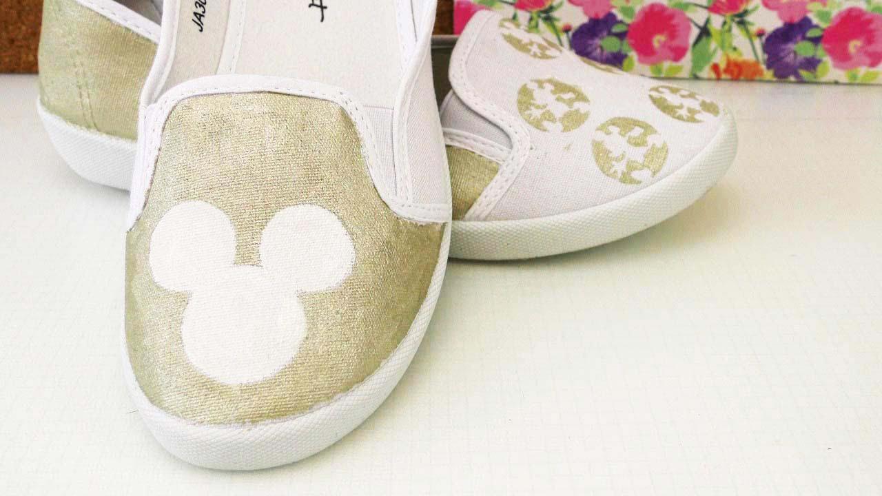 Schuhe selber bemalt