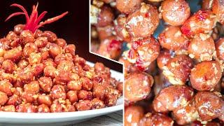 Món Lạc Rang Tỏi Ớt thơm ngon ăn là ghiền cho Tết này