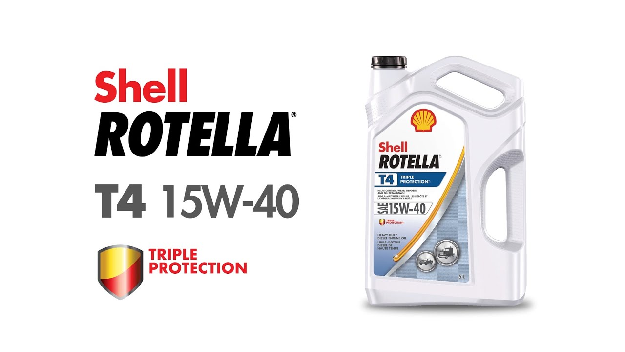 Shell Rotella T4 >> Shell Rotella Triple Protection T4 15w 40 Diesel Engine Oil