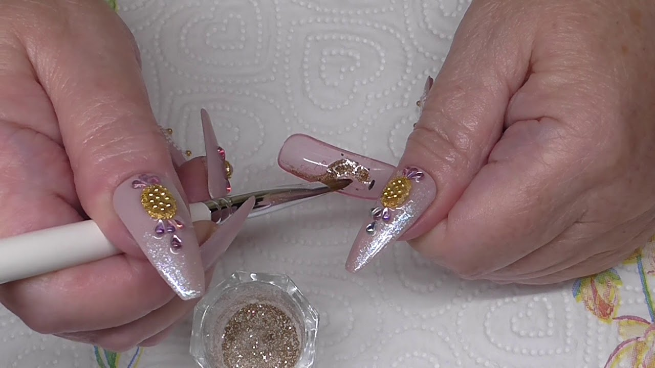 How To Design Your Dual Forms Acrylic Nails Youtube