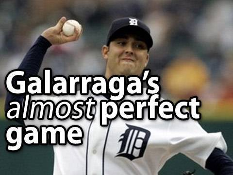 Armando Galarraga Pitches A PERFECT GAME ... almost