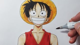 How To Draw LUFFY - Step by Step Tutorial!