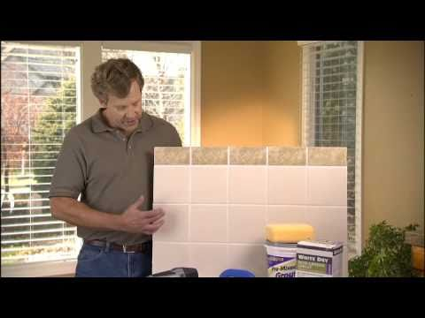 what is the best way to remove grout and regrout tile