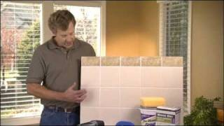 What is the best way to remove grout and regrout tile?