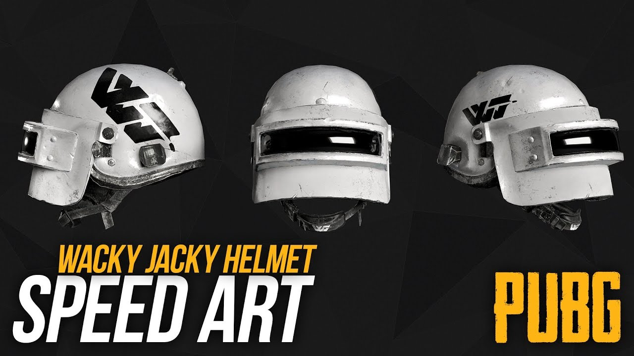 PUBG- Photoshop Speedart - Wacky Jacky Snow Helmet