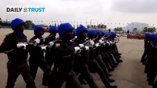 Colourful Nigerian Police march-Past