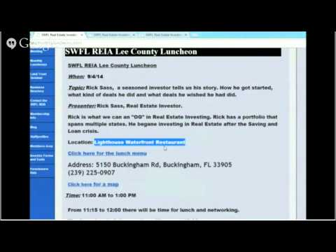 Fl Real Estate Investment distressed properties