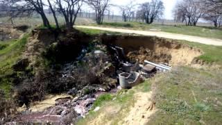 село Шабо - канализация в песок и в Днестровский лиман 04 04 2017