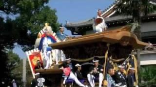 だんじり祭は一般的に神社の祭事であるが、行基参りではお寺へ参内する...