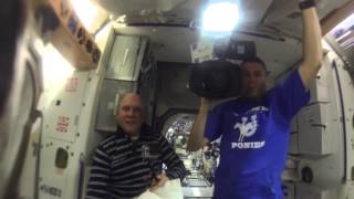 Space Station Astronauts Grow a Water Bubble in Space