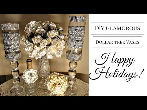 DIY| Glamorous Dollar Tree Vases💎| Centerpieces| DIY Glam Decor
