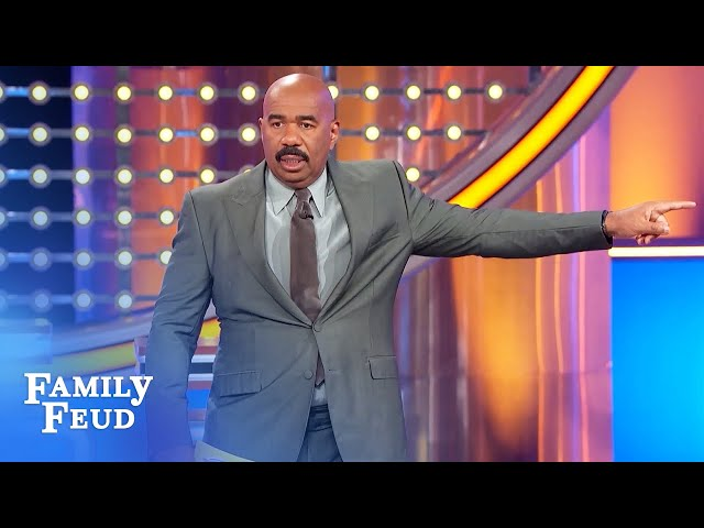 NSFW! Unbelievable answer triggers epic Steve Harvey rant! | Family Feud