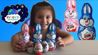 GIANT KINDER BUNNY SURPRISE EGGS Unboxing! Opening Surprise Eggs Star Wars Kids Toys Review