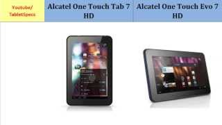 Alcatel One Touch Tab 7 HD over Alcatel One Touch Evo 7 HD, Quick Full Specs Comparison