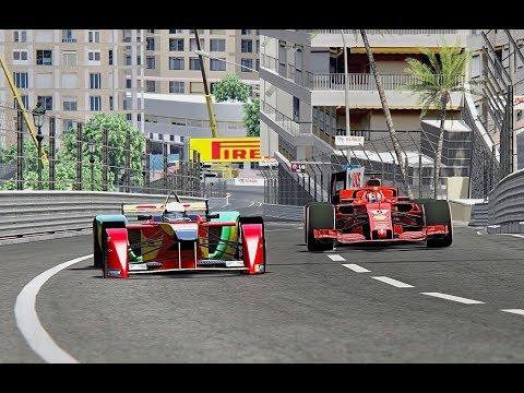 Ferrari F1 2018 vs Formula E - Monaco