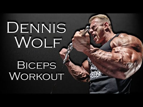 Dennis Wolf - Arm workout: Biceps | Bodybuilding motivation