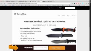 Add an email signup landing page to your Shopify store