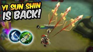 YI SUN SHIN IS ACTUALLY OP! HE IS BACK! MOBILE LEGENDS