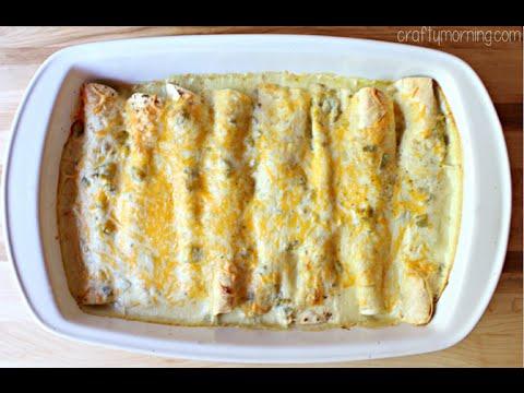 White Chicken Enchiladas W/ Chile Sour Cream Sauce