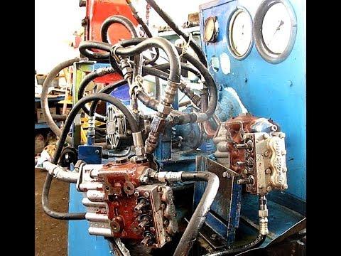 Гидрораспределители Р80. Методика испытания двух распределителей с одним гидронасосом