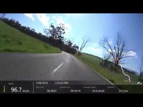 GPZ900R flying through Noojee - Fumina - Hill End - Moe