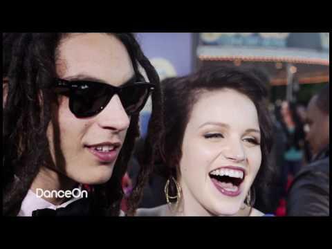 Lindsay Pearce & Samuel Larsen At Glee 3D Concert Movie Premiere - The Glee Project