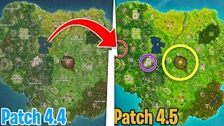 THE 3 MOST IMPORTANT NEWS IN THE MAP [ Patch 4.5 ] - Fortnite Battle Royale ITA