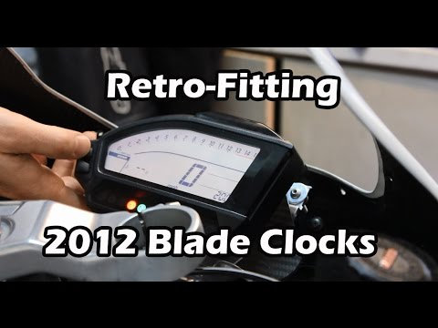 cbr1000rr 2012 fireblade clock dash swap retro fitting to an cbr1000rr 2012 fireblade clock dash swap retro fitting to an early bike