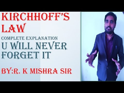 MOST IMPORTANT TOPIC :KIRCHHOFF'S LAW