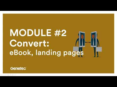 MODULE 2 - Convert : eBook, landing pages
