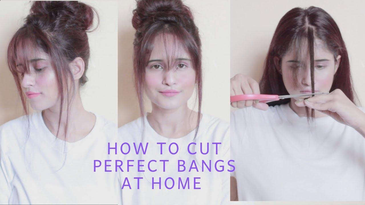 How to Easily Cut Perfect Bangs At Home  Anukriti Lamaniya