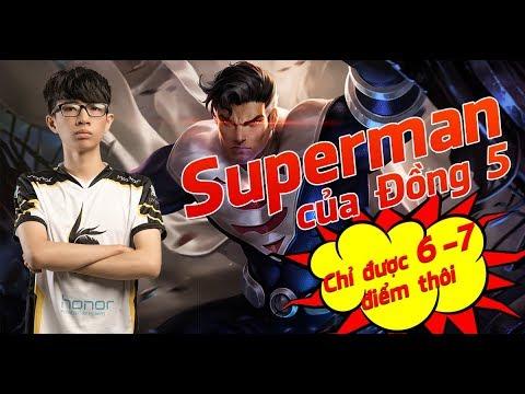 [FULL GAME] ĐỒNG 5 ĐÁNH SUPERMAN KHIÊM TỐN TỰ CHẤM 6-7 ĐIỂM.  | BronzeV Channel