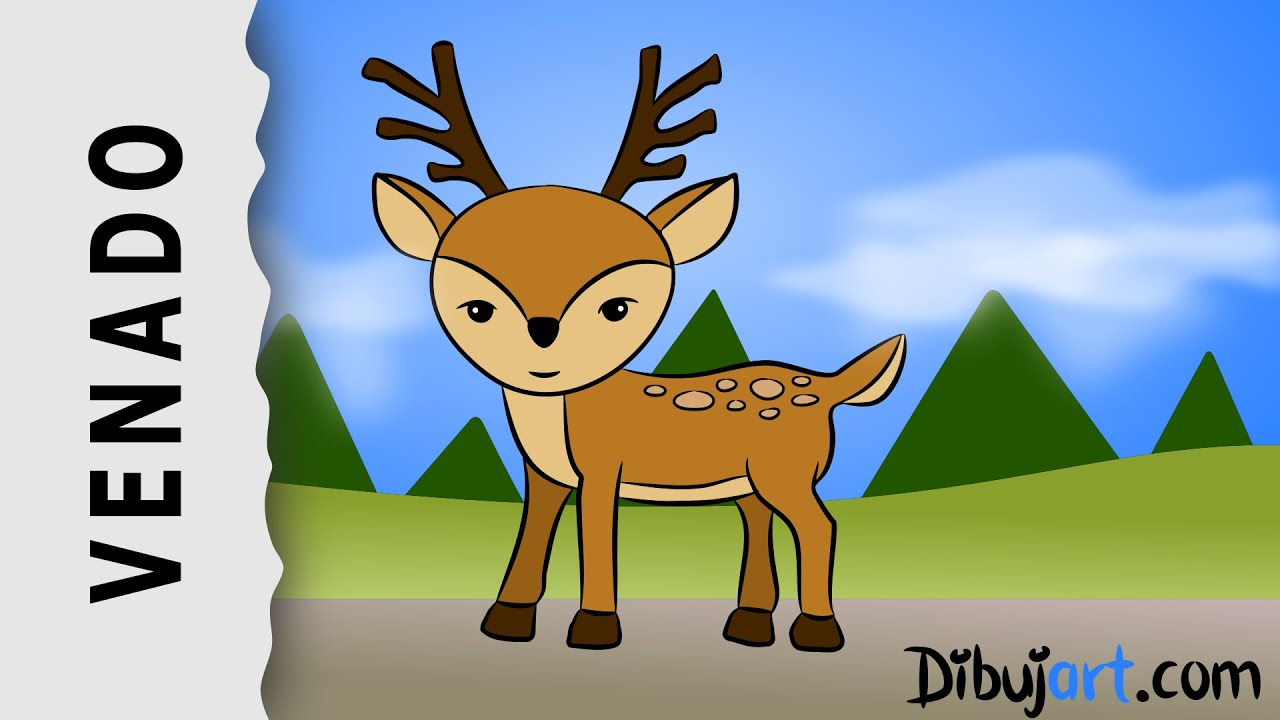 Cómo dibujar un Venado (Ciervo) - Dibujos de Animales del Bosque ...