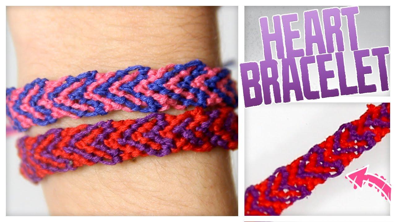 Diy Threaded Heart Bracelet!  Do It, Gurl