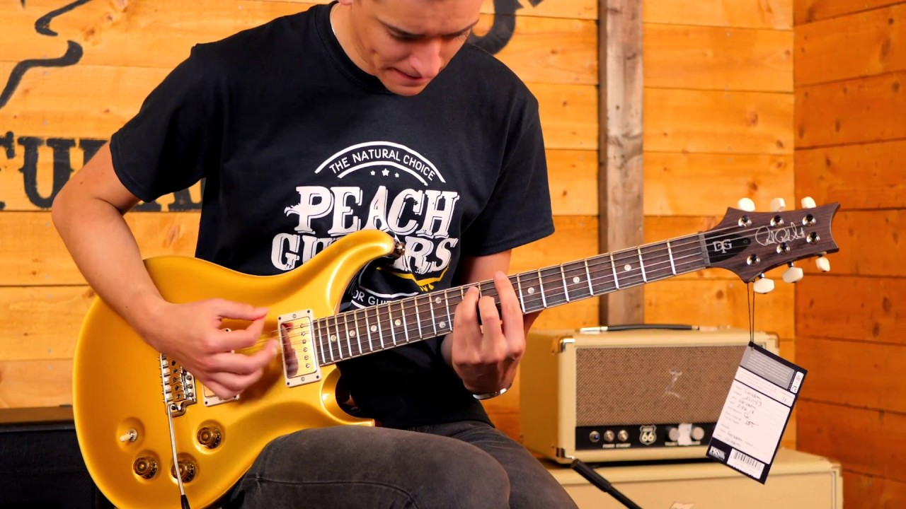 PRS DGT Gold Top Moons by Peach Guitars