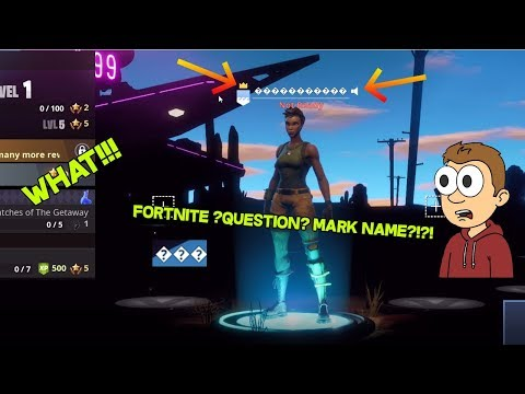 How To Get A Question Mark Fortnite Name *Works 2020*