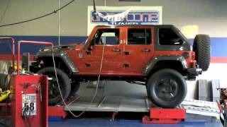 "SRT8 ""Orange Crush"" 7 Liter 426 HEMI Jeep Dyno Speed Run"