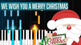 """We Wish You A Merry Christmas"" Piano Tutorial - Chords - How To Play - Cover"