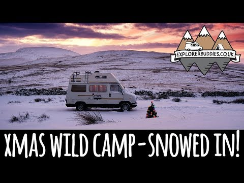 VanLife CHRISTMAS VAN TOUR / Vlog - SNOWED IN on the Brecon Beacons in Wales!